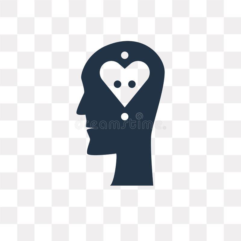Icône de vecteur de sentiments d'isolement sur le fond transparent, se sentant illustration de vecteur