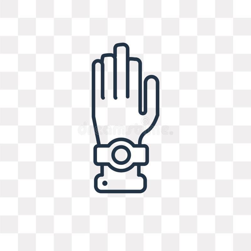Icône de vecteur de serment sur le fond transparent, serment linéaire illustration stock