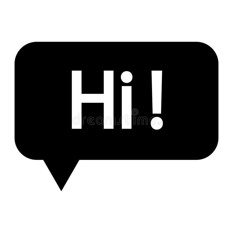 Icône de vecteur de signe de causerie Illustration mignonne de bulle de la parole, dire salut symbole illustration stock