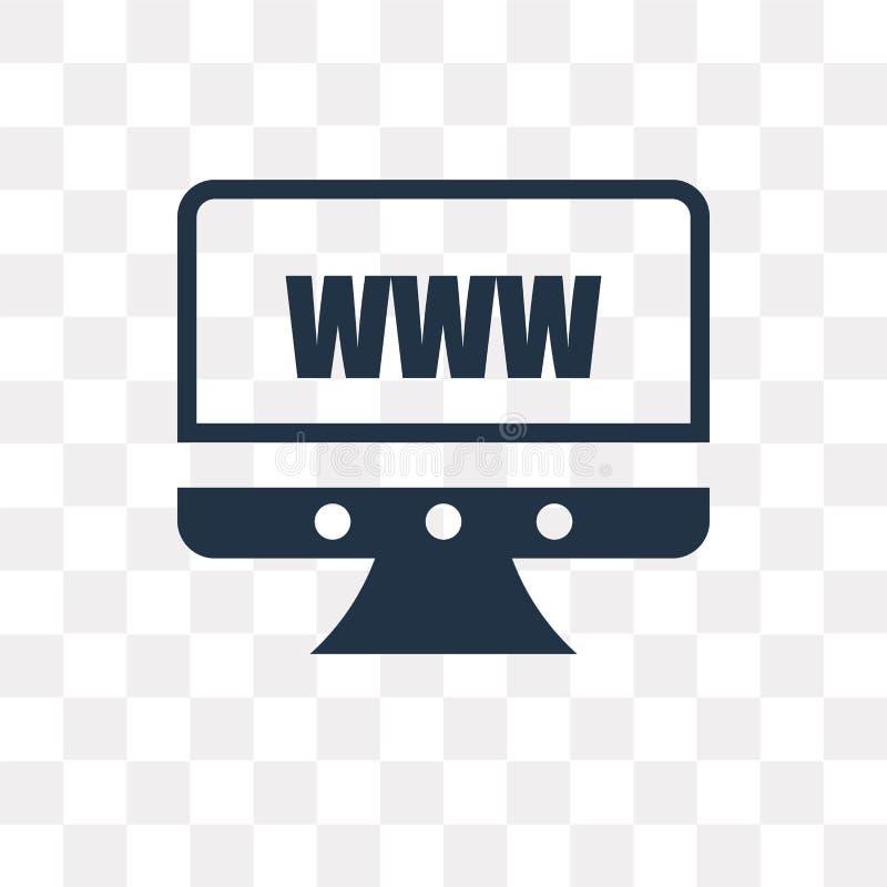 Icône de vecteur de site Web d'isolement sur le fond transparent, site Web illustration stock