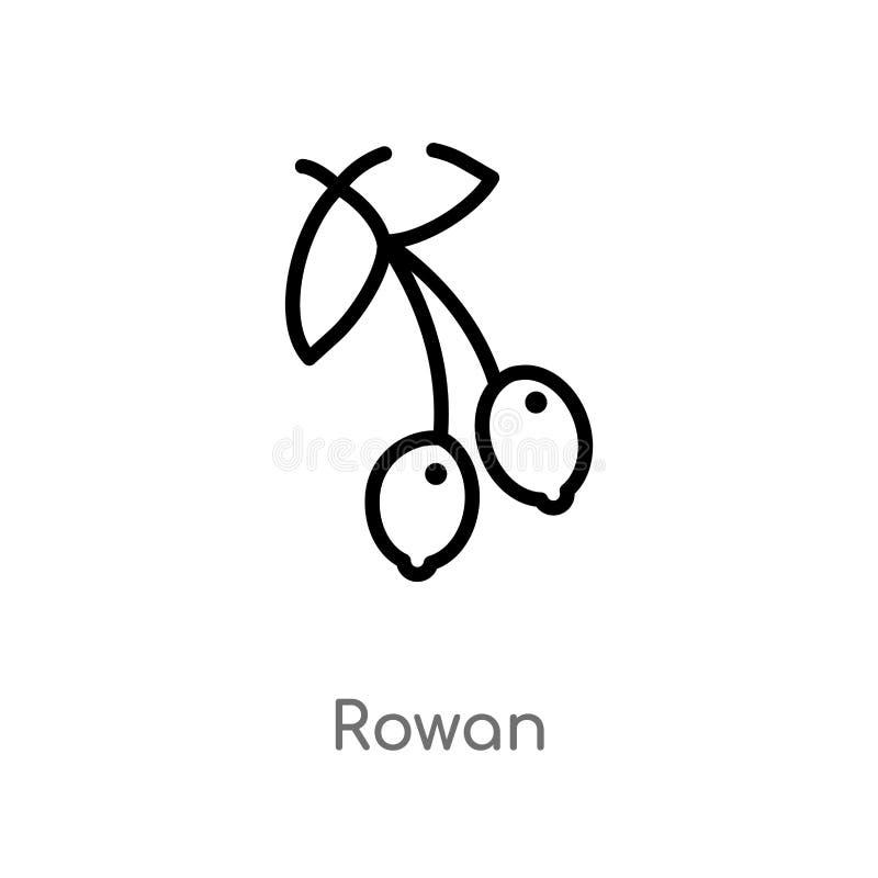 icône de vecteur de sorbe d'ensemble ligne simple noire d'isolement illustration d'élément de concept d'automne icône editable de illustration de vecteur