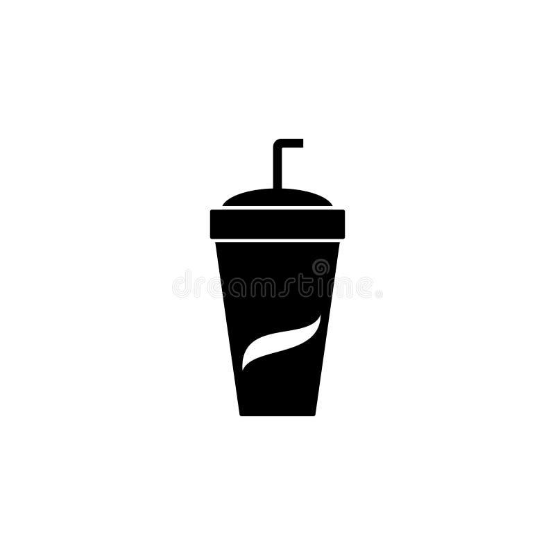 Icône de vecteur de soude Emblème d'isolement sur le fond blanc Style simple moderne d'icône pour le graphique et la conception w illustration stock