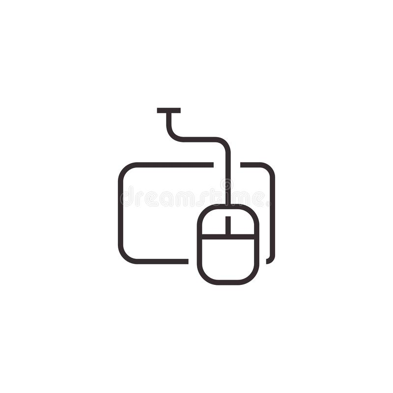 Icône de vecteur de souris, pixel Eps10 parfait Symbole de bureau photo stock