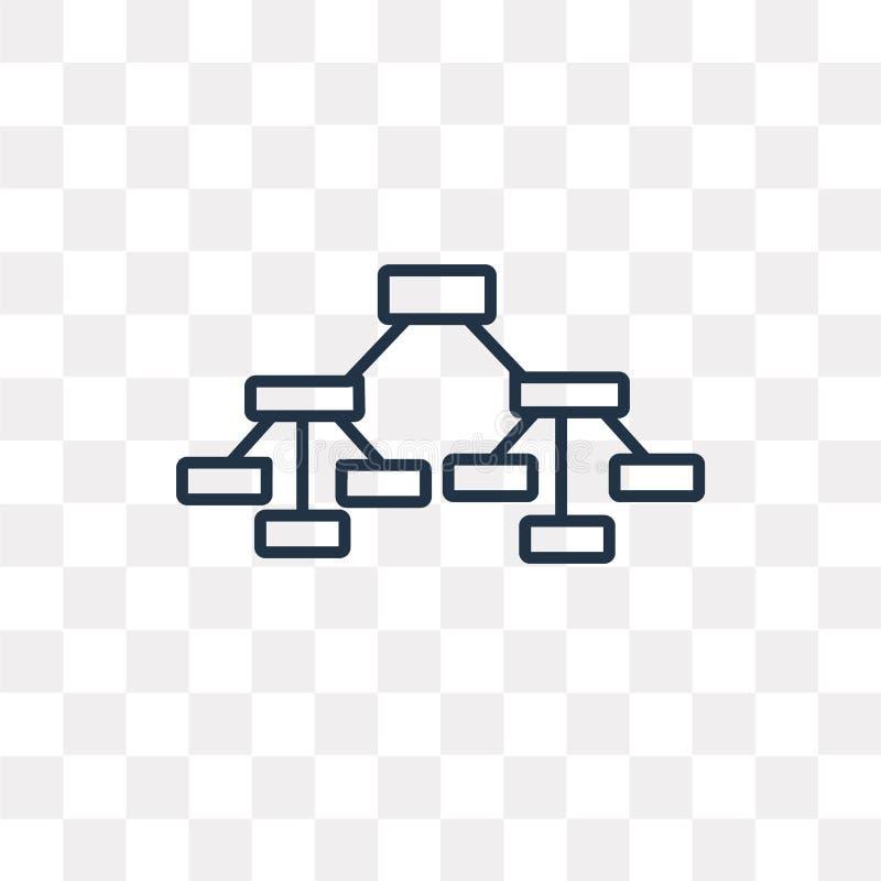 Icône de vecteur de structure hiérarchisée d'isolement sur le backg transparent illustration de vecteur