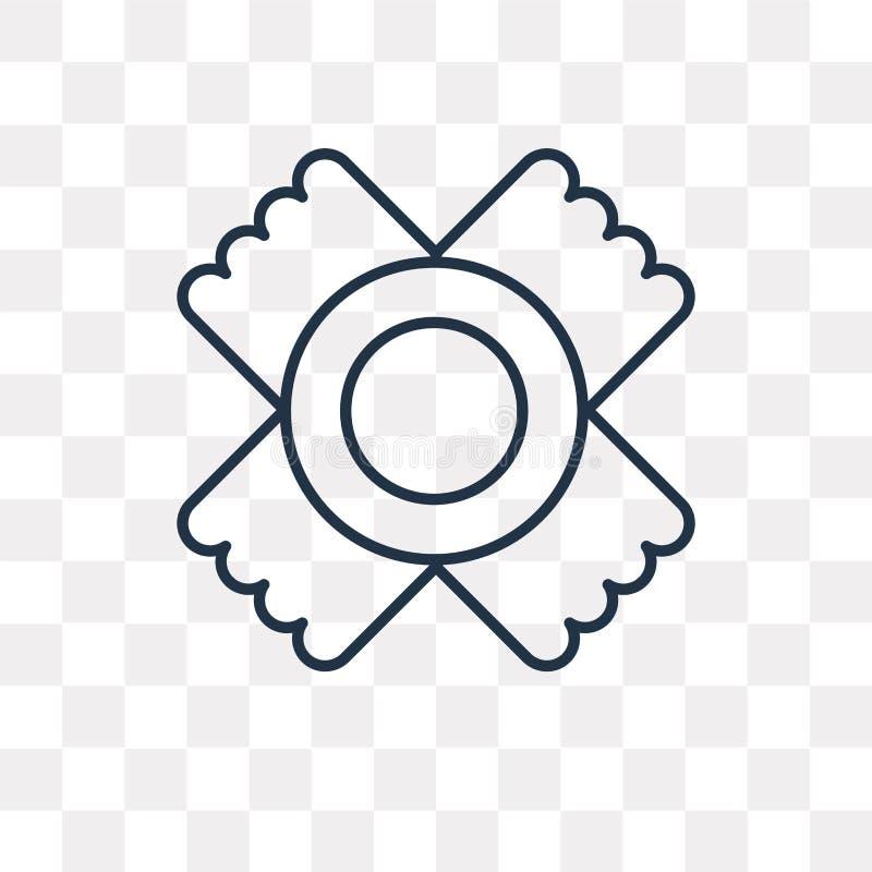 Icône de vecteur de Sun de natif américain d'isolement sur le backgrou transparent illustration de vecteur