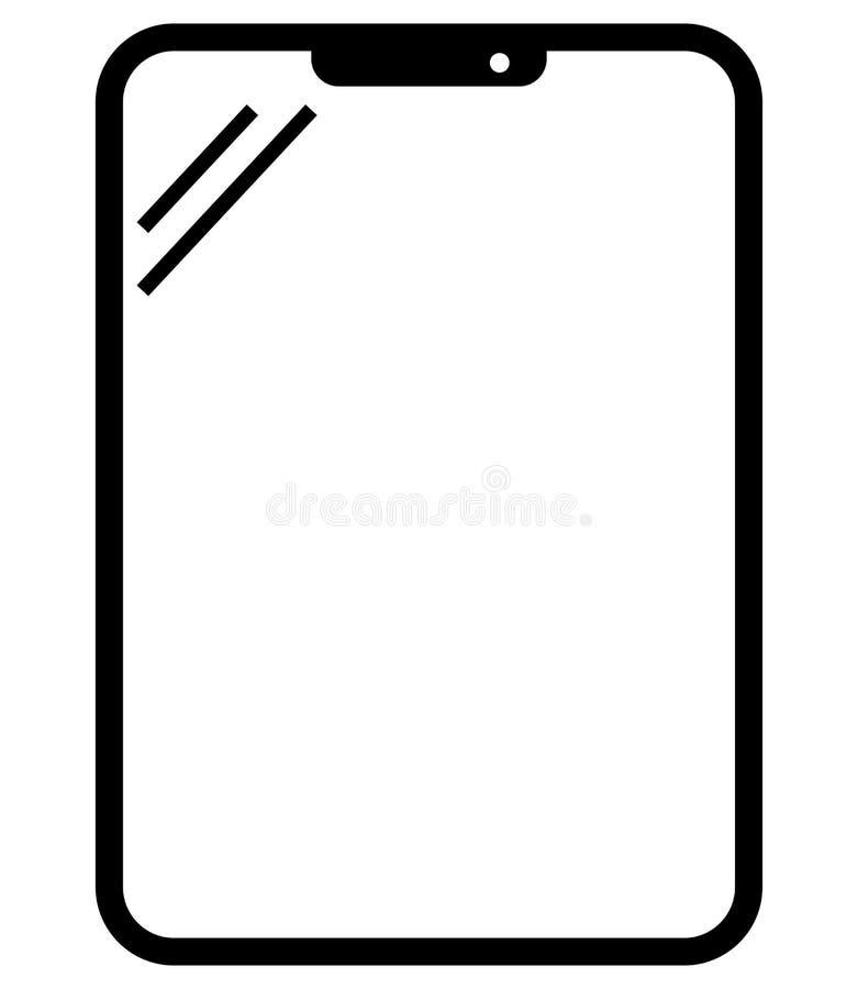 Icône de vecteur de Tablette illustration libre de droits