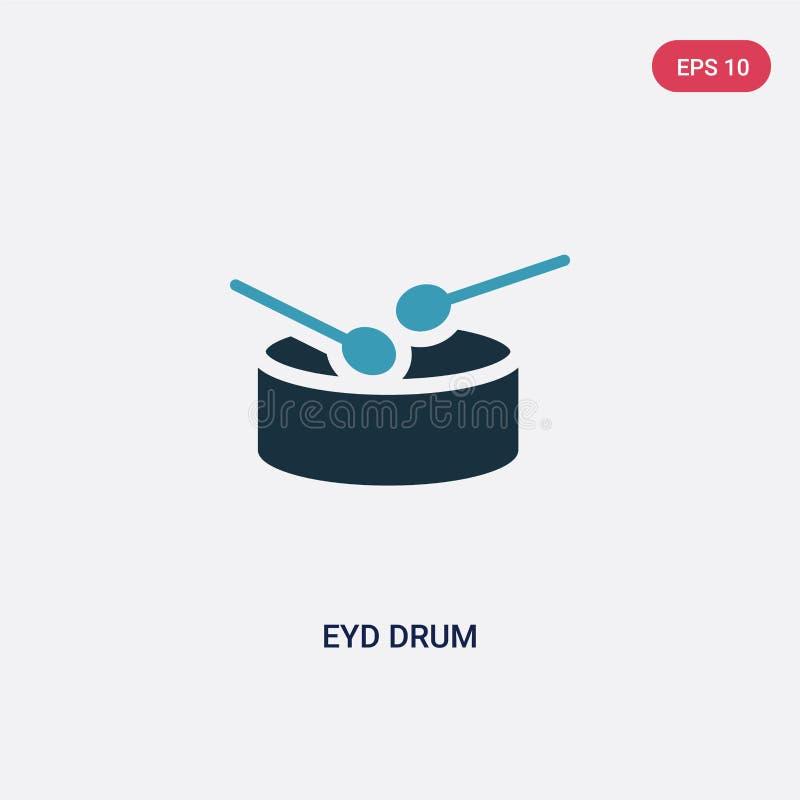 Icône de vecteur de tambour d'eyd de deux couleurs du concept religion-2 le symbole bleu d'isolement de signe de vecteur de tambo illustration stock
