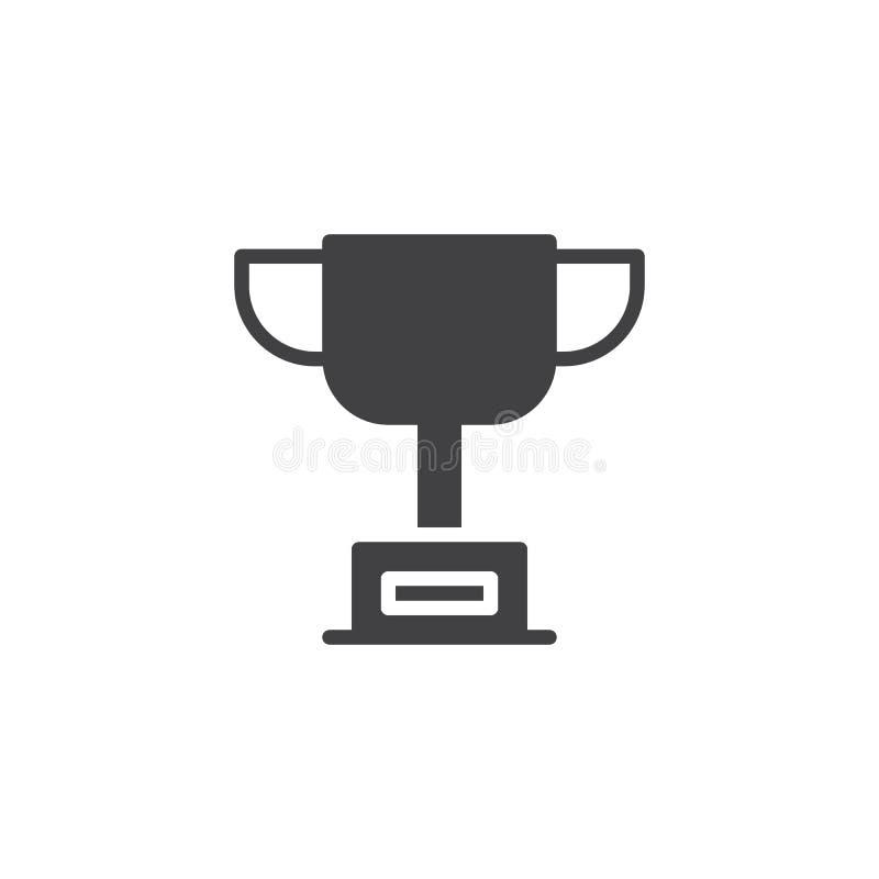 Icône de vecteur de tasse de trophée illustration stock