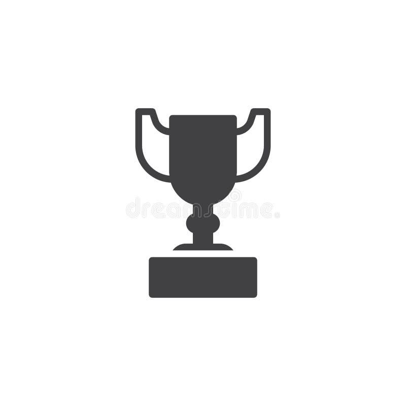 Icône de vecteur de tasse de trophée illustration libre de droits