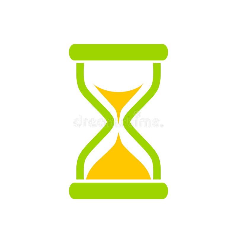 Icône de vecteur de temps de sablier illustration de vecteur