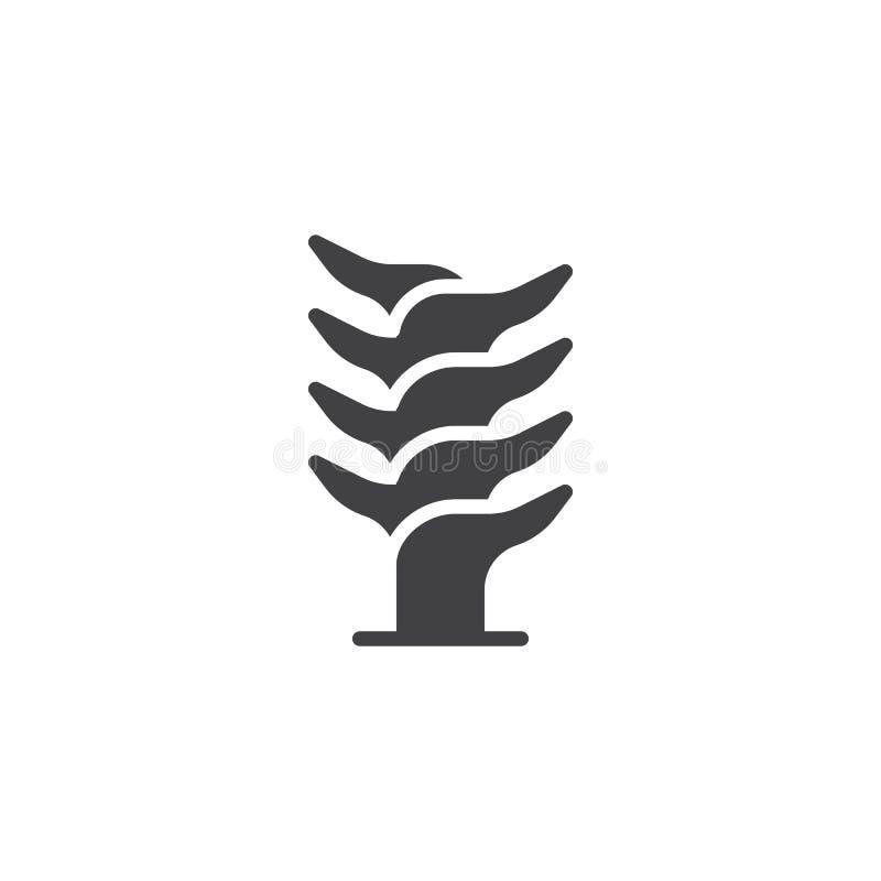 Icône de vecteur de tige d'aloès illustration de vecteur