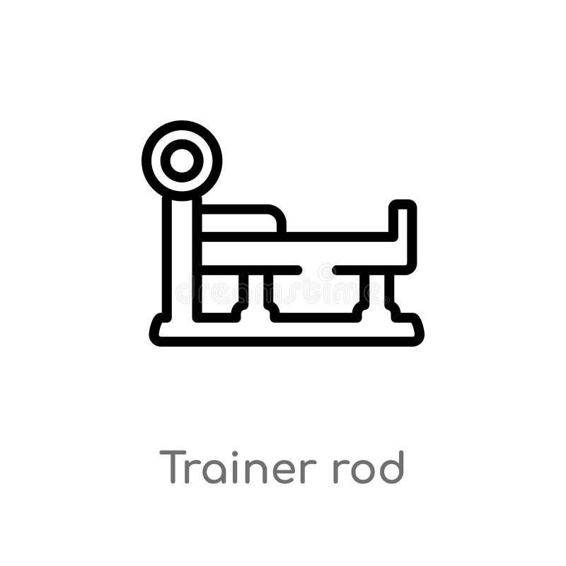 icône de vecteur de tige d'entraîneur d'ensemble ligne simple noire d'isolement illustration d'élément de gymnase et de concept d illustration de vecteur