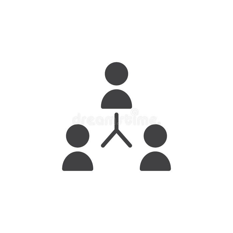 Icône de vecteur de travail d'équipe illustration stock