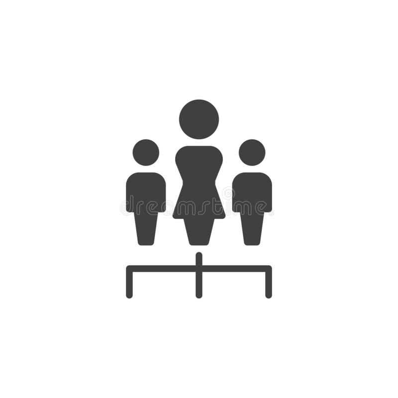 Icône de vecteur de travail d'équipe de groupe illustration de vecteur