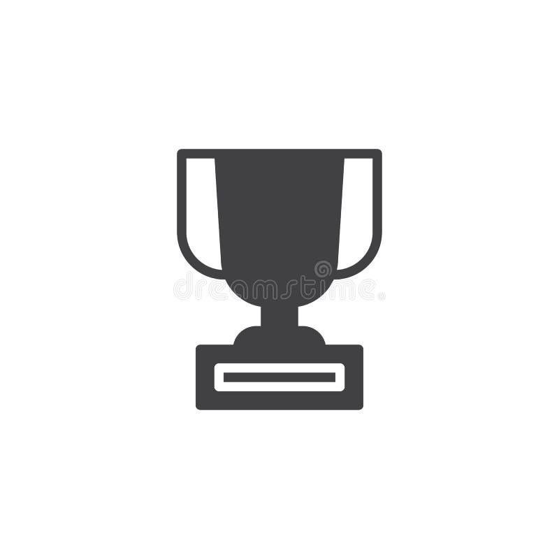 Icône de vecteur de trophée illustration de vecteur