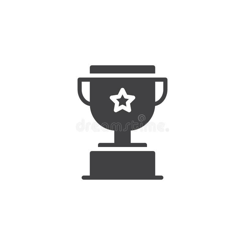 Icône de vecteur de trophée illustration libre de droits