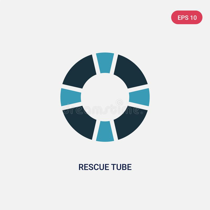 Icône de vecteur de tube de délivrance de deux couleurs de concept de qualifications de personnes le symbole bleu d'isolement de  illustration libre de droits