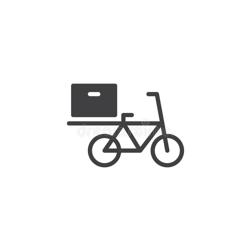 Icône de vecteur de vélo de la livraison de nourriture illustration de vecteur