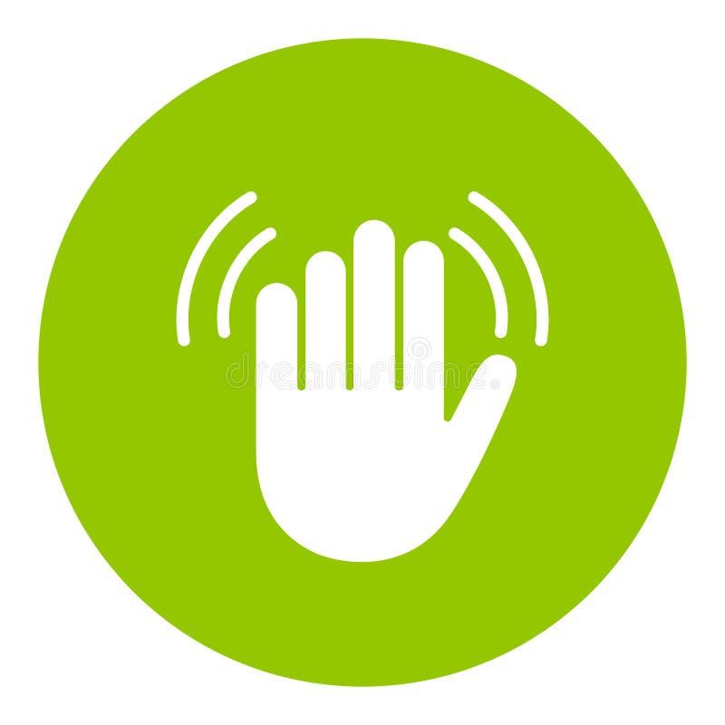 Icône de vecteur de vague de main illustration libre de droits