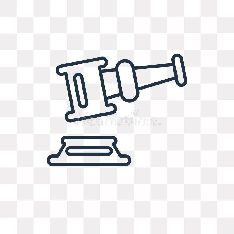 Icône de vecteur de vente aux enchères d'isolement sur le fond transparent, A linéaire illustration libre de droits