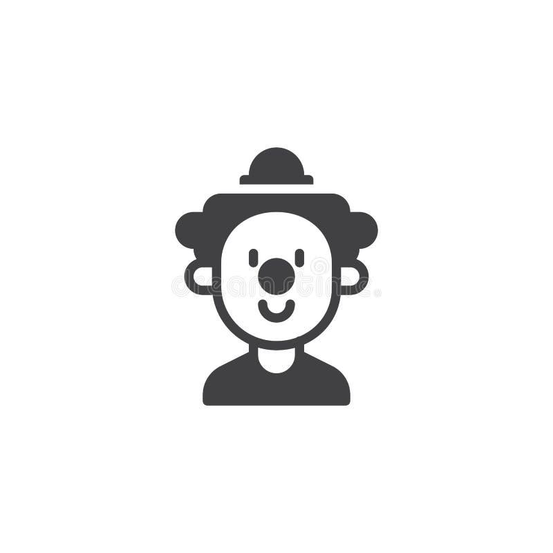 Icône de vecteur de visage de clown illustration de vecteur