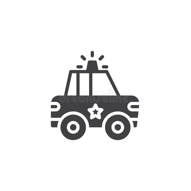 Icône de vecteur de voiture de police illustration stock