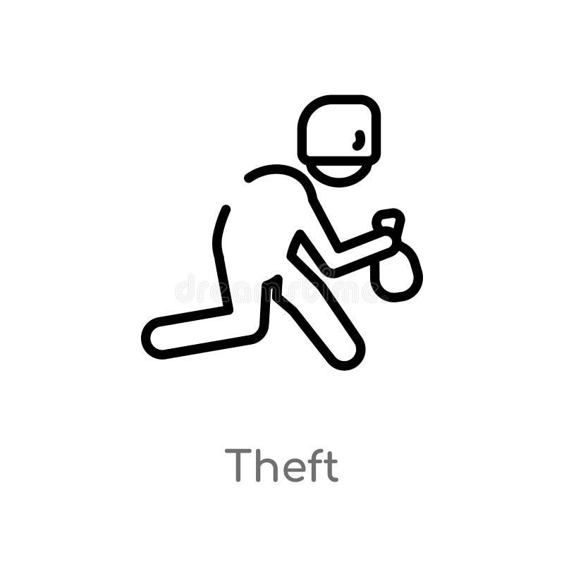 icône de vecteur de vol d'ensemble ligne simple noire d'isolement illustration d'élément de concept de cyber icône editable de vo illustration de vecteur