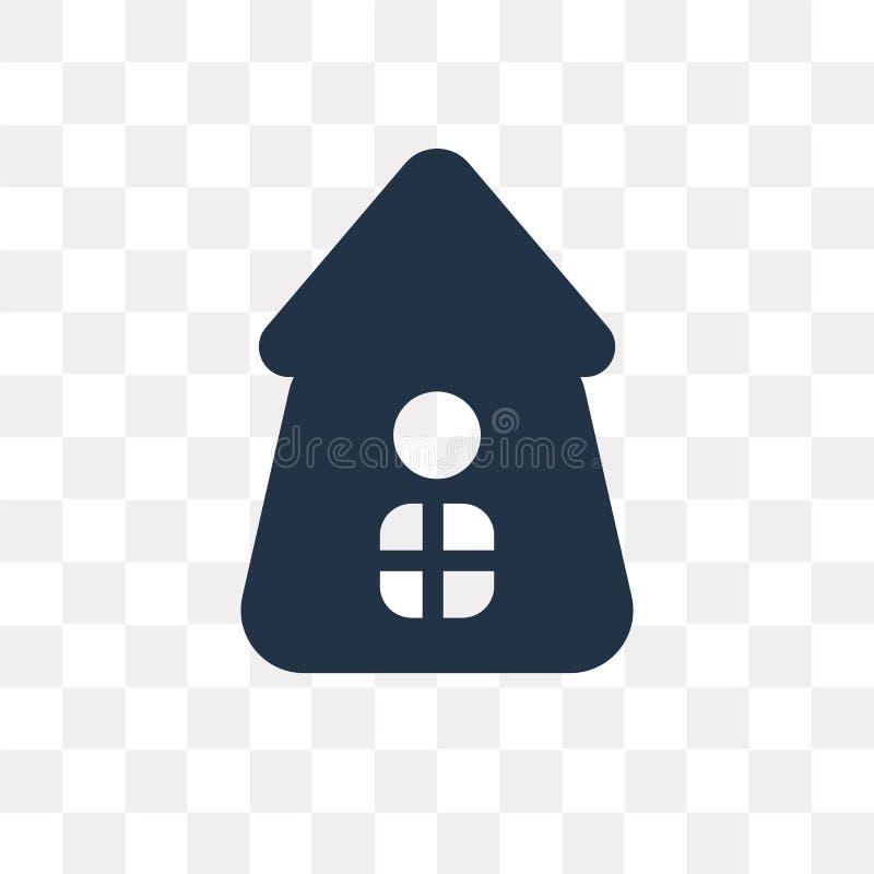 Icône de vecteur de volière d'isolement sur le fond transparent, Birdho illustration stock