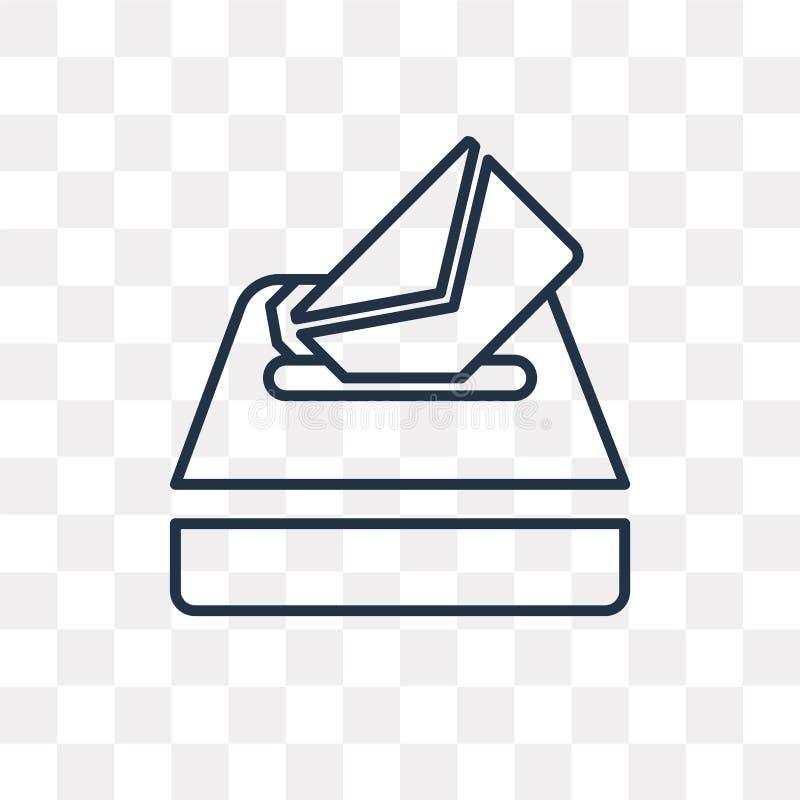 Icône de vecteur de vote d'isolement sur le fond transparent, vote linéaire illustration libre de droits