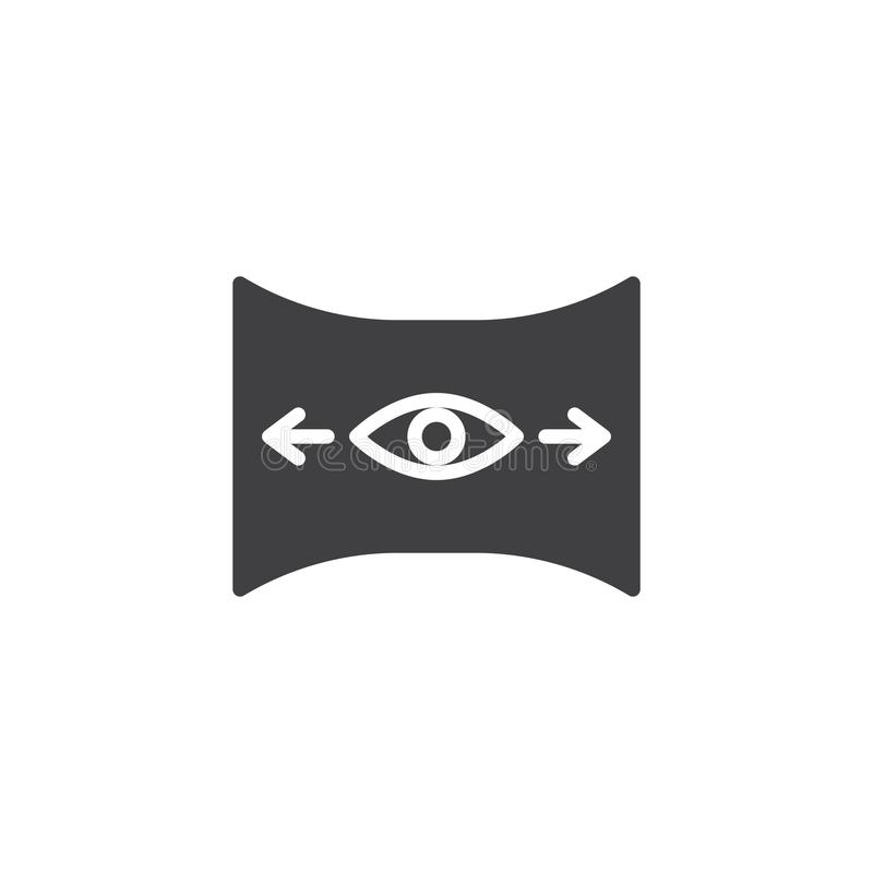 Icône de vecteur de vue de panorama illustration stock