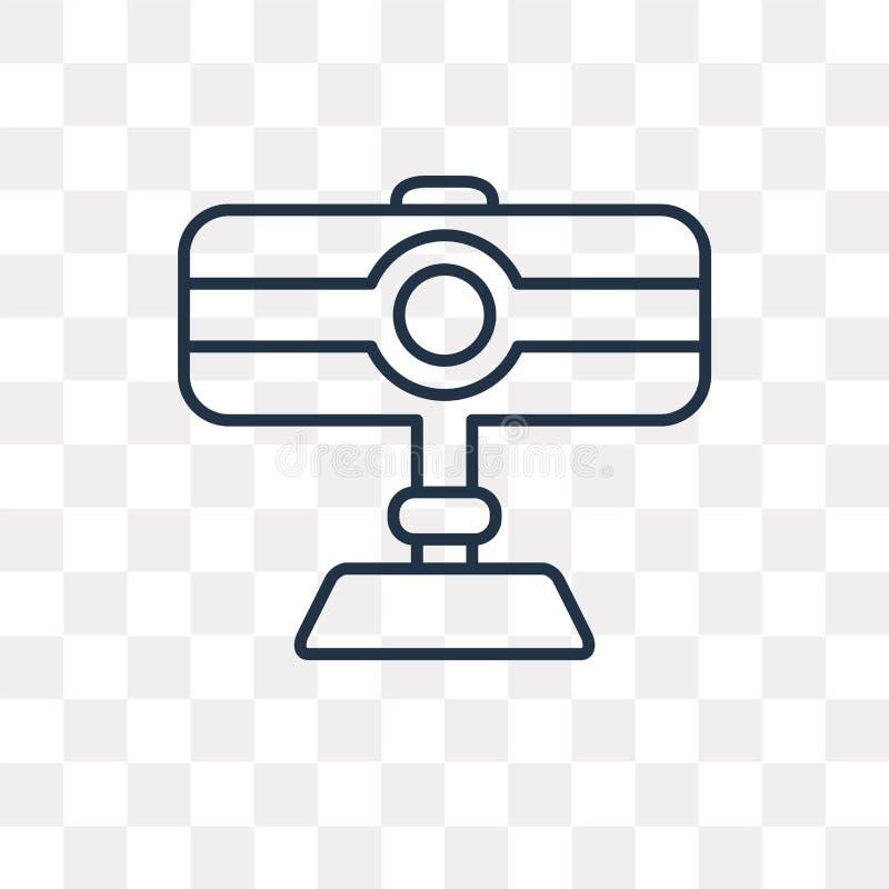 Icône de vecteur de webcam d'isolement sur le fond transparent, linéaire nous illustration de vecteur