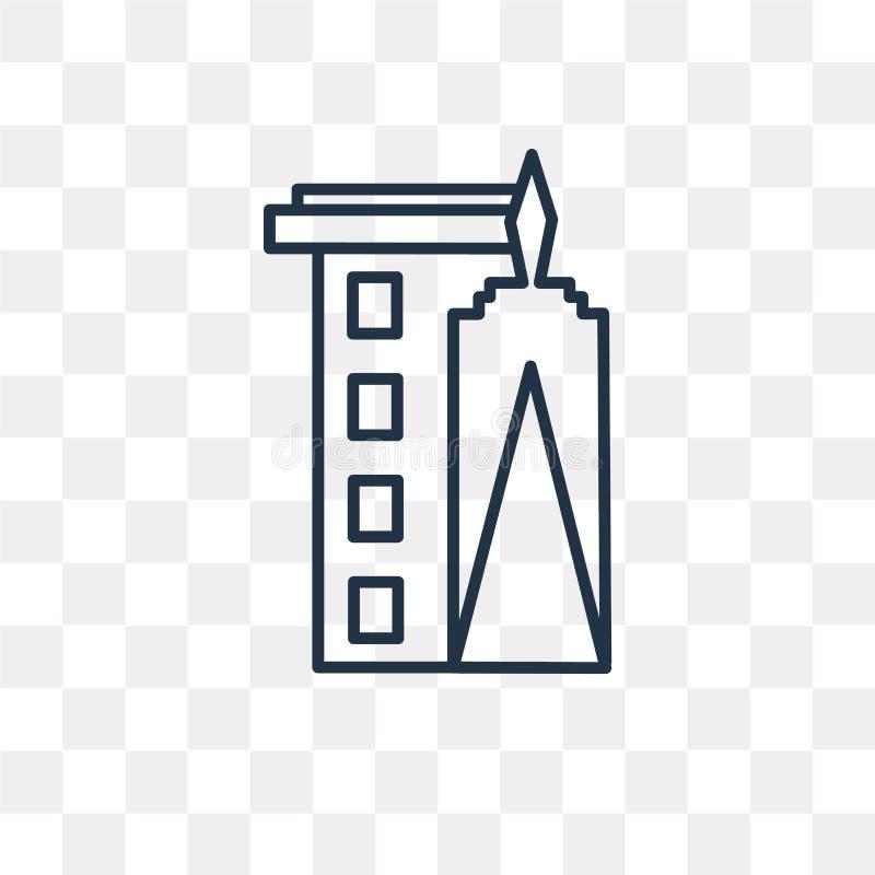 Icône de vecteur de World Trade Center d'isolement sur le backgroun transparent illustration libre de droits