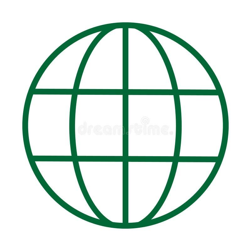 Icône de vecteur de World Wide Web Ligne illustration de vecteur de logo Symbole de navigateur illustration de vecteur