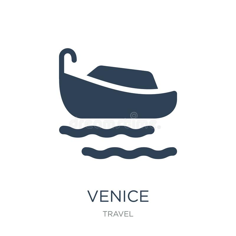 icône de Venise dans le style à la mode de conception icône de Venise d'isolement sur le fond blanc symbole plat simple et modern illustration stock