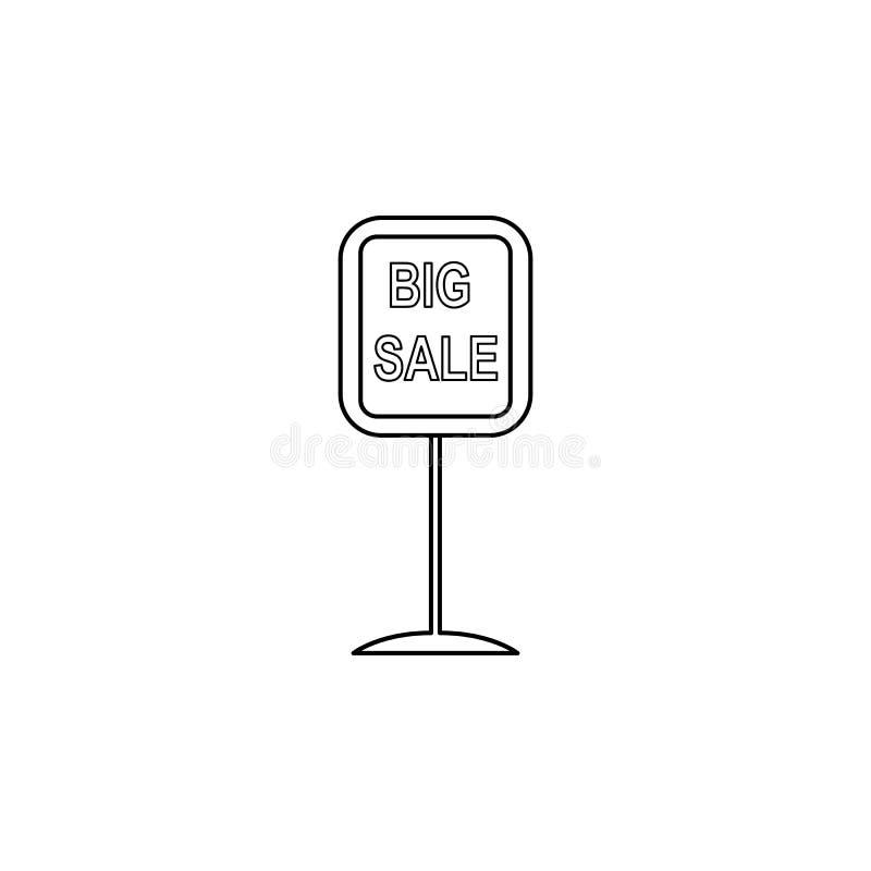 icône de vente de signage de route grande L'élément de la vente signe pour les apps mobiles de concept et de Web Ligne mince icôn photographie stock libre de droits
