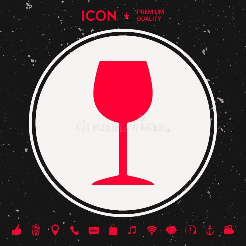 Icône de verre à vin illustration de vecteur