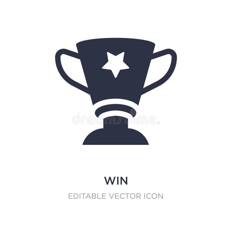 icône de victoire sur le fond blanc Illustration simple d'élément de notion générale illustration de vecteur
