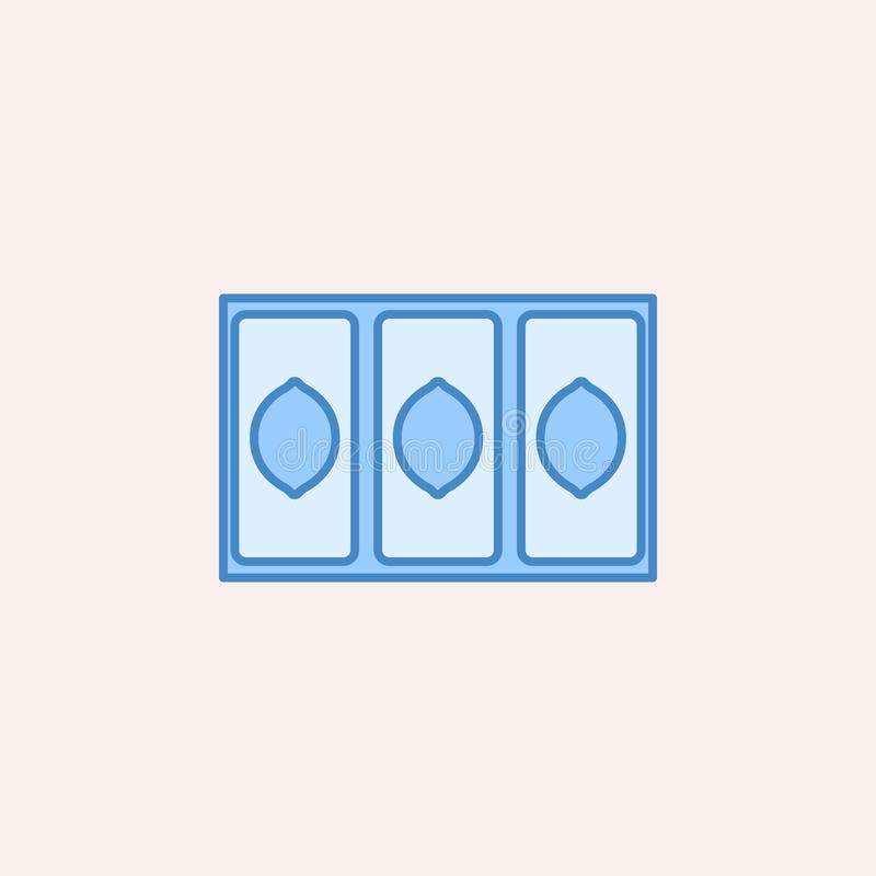 icône de victoire de trois citrons Élément d'icône de casino pour les apps mobiles de concept et de Web L'icône de victoire de ci illustration stock