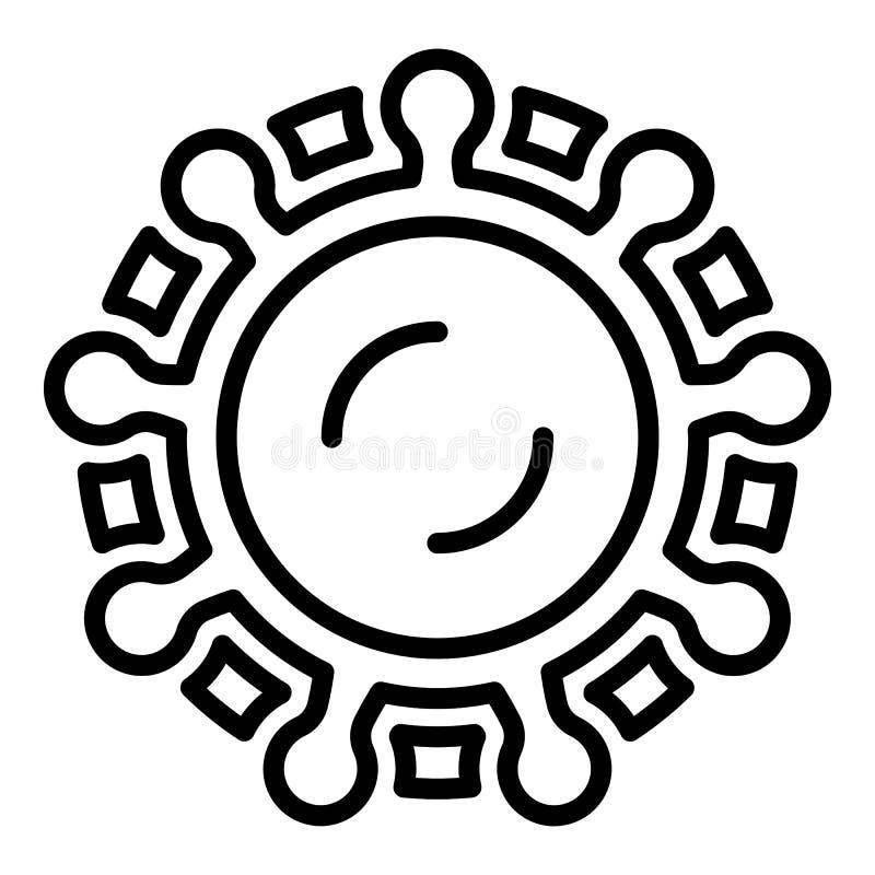 Icône de virus d'encéphalite, style d'ensemble illustration de vecteur