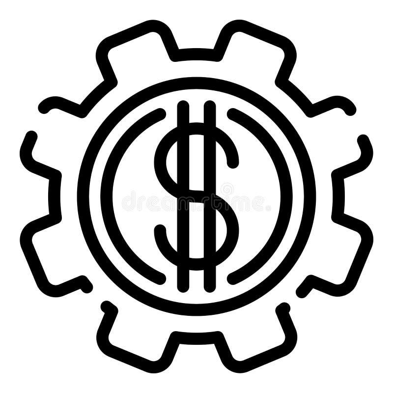 Icône de vitesse d'argent du dollar, style d'ensemble illustration stock