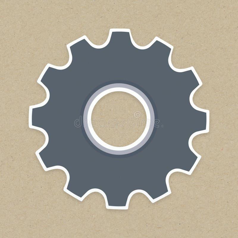 Icône de vitesse réglée sur le fond illustration de vecteur