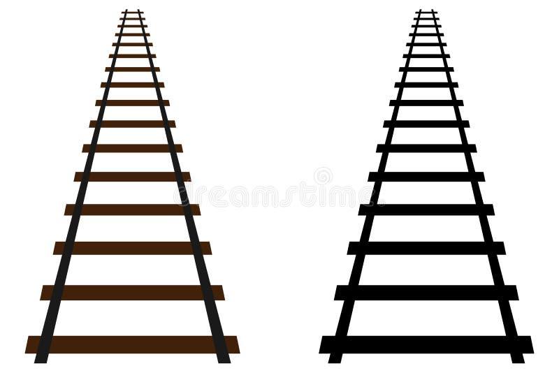 Icône de voie de chemin de fer illustration libre de droits
