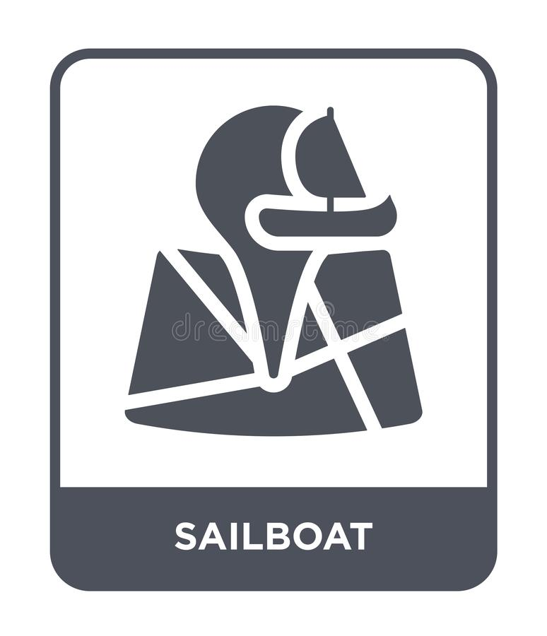 icône de voilier dans le style à la mode de conception icône de voilier d'isolement sur le fond blanc appartement simple et moder illustration libre de droits