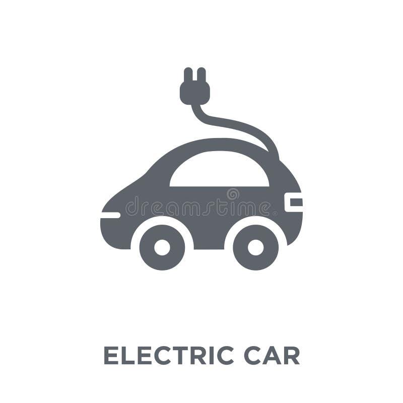 Icône de voiture électrique de collection illustration stock