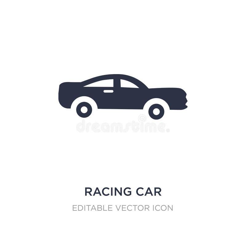 icône de voiture de course sur le fond blanc Illustration simple d'élément de concept de transport illustration de vecteur