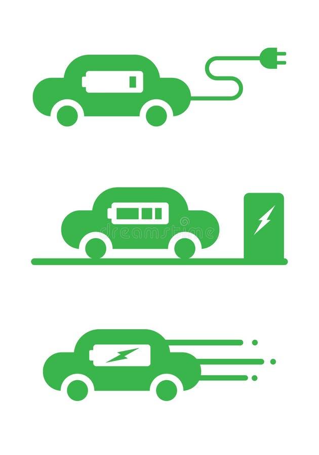 Icône de voiture d'EV, vecteur illustration libre de droits