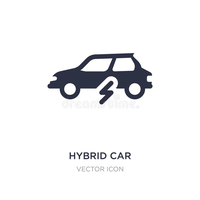 icône de voiture hybride sur le fond blanc Illustration simple d'élément de concept de transport illustration libre de droits