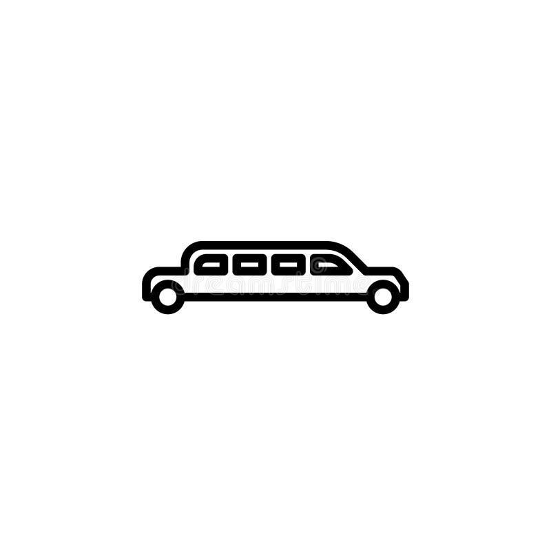 Icône de voiture de limousine ligne illustration de vecteur d'icône de style illustration libre de droits