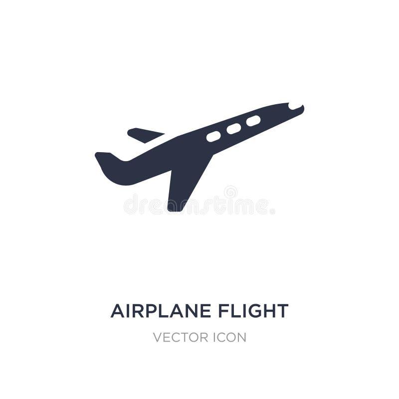 icône de vol d'avion sur le fond blanc Illustration simple d'élément de concept de transport illustration libre de droits