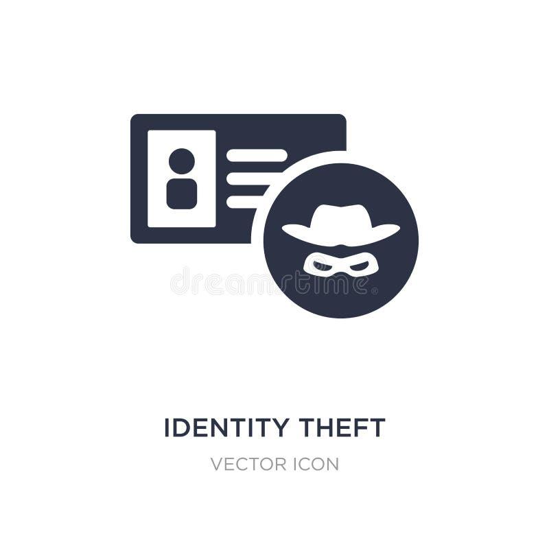 icône de vol d'identité sur le fond blanc Illustration simple d'élément de concept de Cyber illustration libre de droits